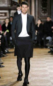 Male Fashion Model in Skirt